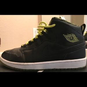 "Jordan Shoes - Air Jordan Retro 1 ""94"" Black Venom Green 10 1 9b0d9e92e"
